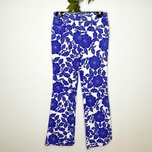 Vintage Moschino Floral Print Flared Jeans